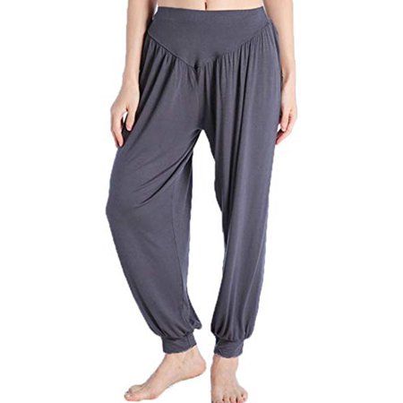SAYFUT Women's Casual Yoga Pants Loose Fit Style Trousers Wide Leg Activewear Relaxed Fit Pants Black/Gray/Dark Grey