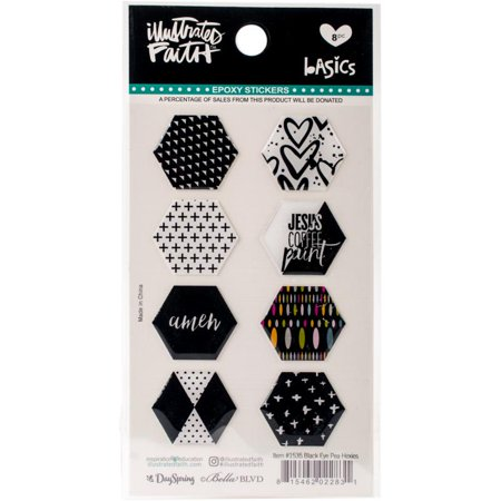 Illustrated Faith Basics He x ies Epoxy Stickers - Black Eyed - Epoxy Stickers