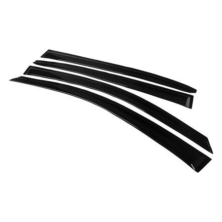 Honda Accord 13-16 Side Tape-on Window Vent Visor Sun Rain Deflector Guard, 4-Pieces