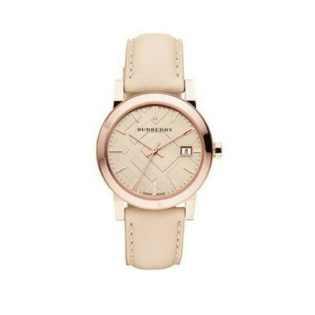 Burberry BU9210 The City Rose Gold Swiss Made Leather Womens (Best Swiss Made Watches Under 2000)