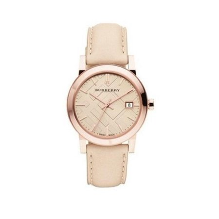 Burberry BU9210 The City Rose Gold Swiss Made Leather Womens