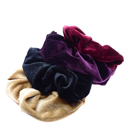 20pcs Flannelette Elastic Hair Band For Women Headband Soft Scrunchies Elastic Hairbands Stretchy Multicolor Rubber Bands Hair Accessories - image 3 de 7
