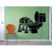 Star Wars Mural Movie Series Characters Fan Design Art Decor Silhouette Custom Wall Decal Vinyl Peel & Stick Sticker 12 Inches X 12 Inches