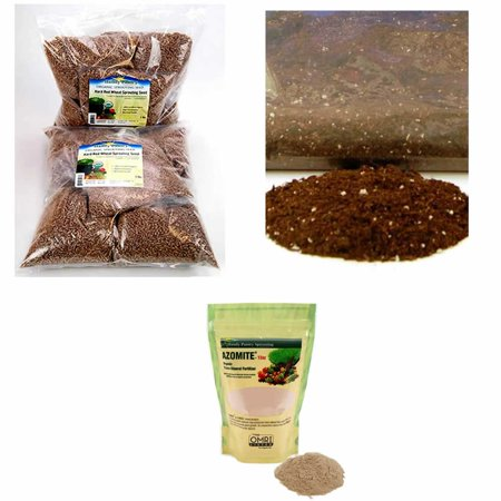 Wheatgrass Growing Kit Refills - Soil - OMRI Soil Mix, Azomite Trace Mineral Fertilizer & Organic Seed (Best Way To Grow Wheatgrass Indoors)
