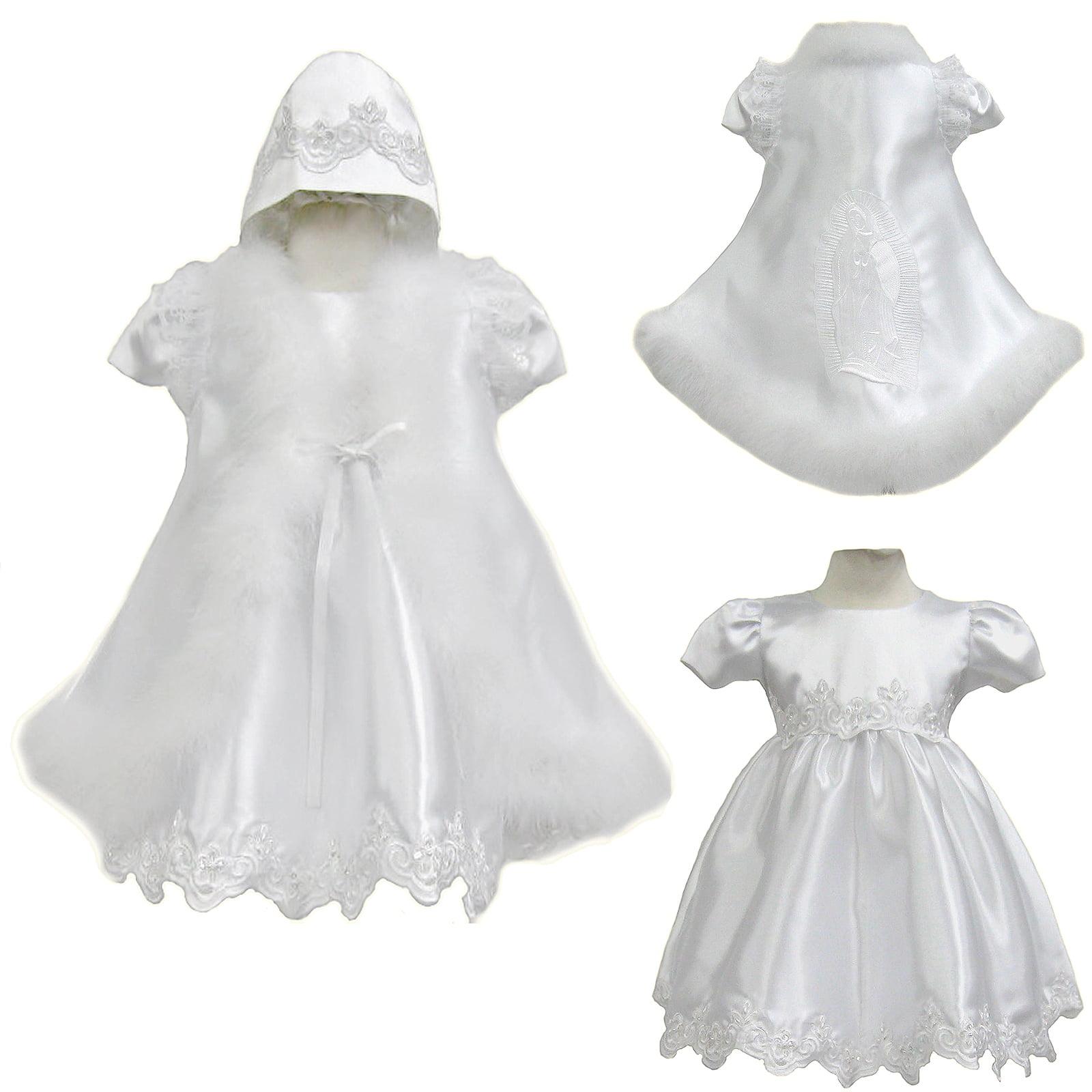Girl Baby Infant Toddler Girl Christening Baptism Formal Gown Dress 0-30 months