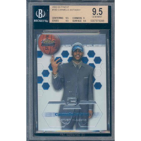 2002 03 Finest  180 Carmelo Anthony Rc Rookie Bgs 9 5  9 5 9 9 5 9 5