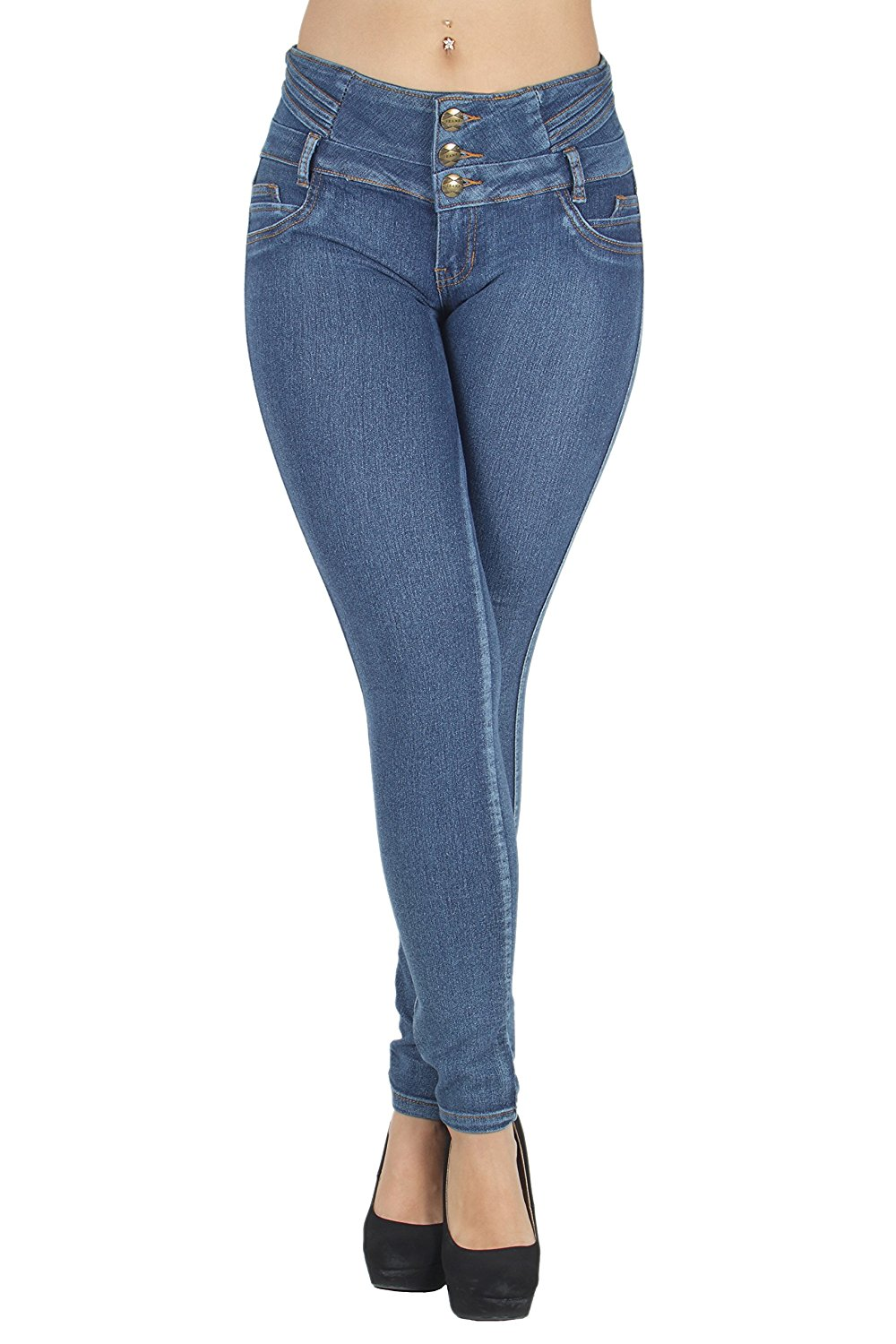 N616P - Plus Size, Colombian Design, Butt Lift, Levanta Cola, Skinny Jeans