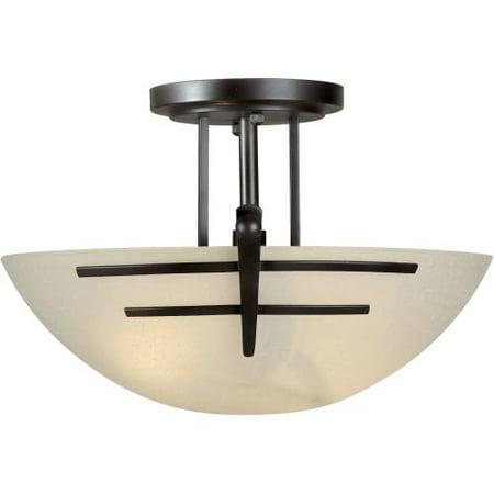 Semi Flush Forte Lighting (Forte Lighting 2231-02 Two Light Steel Semi-Flush Mount Ceiling Fixture )