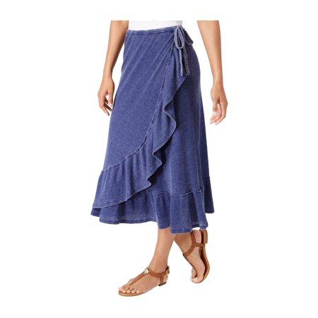 G.H. Bass & Co. Womens Faded Wrap Skirt nwa M Cotton Long Skirt Wrap
