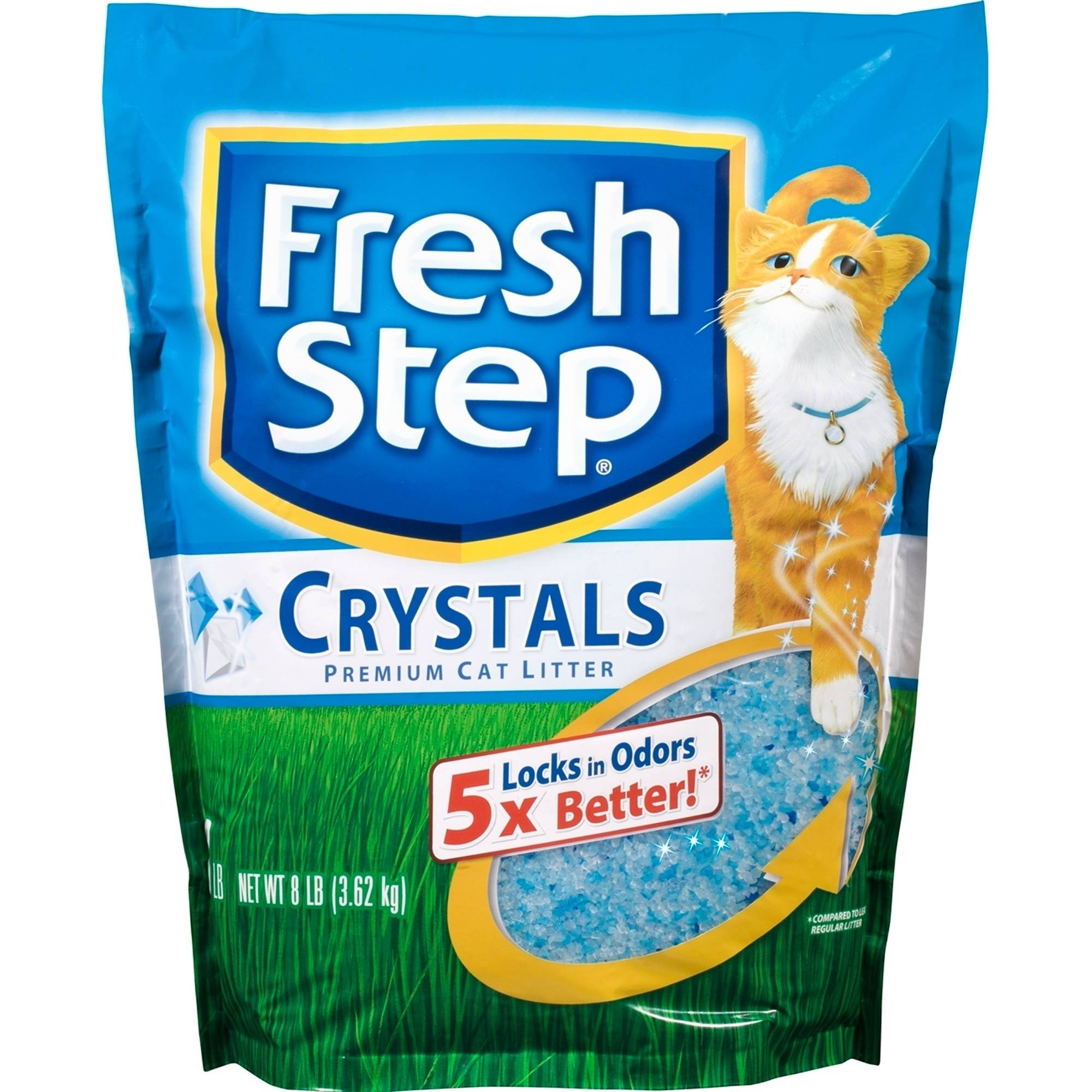 Fresh Step Crystals, Premium Cat Litter, 8 lb Bag