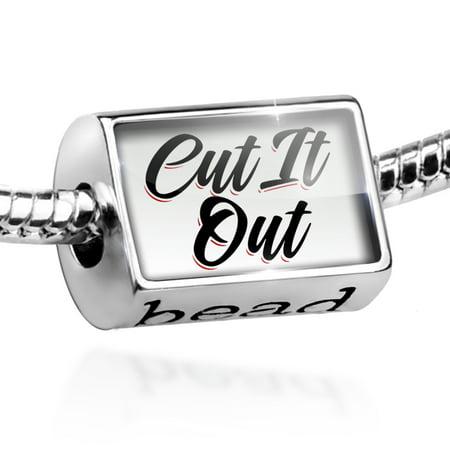 - Bead Vintage Lettering Cut It Out Charm Fits All European Bracelets