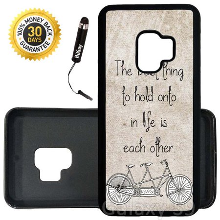 Custom Galaxy S9 Case (The Best Thing Quote) Edge-to-Edge Rubber Black Cover Ultra Slim | Lightweight | Includes Stylus Pen by