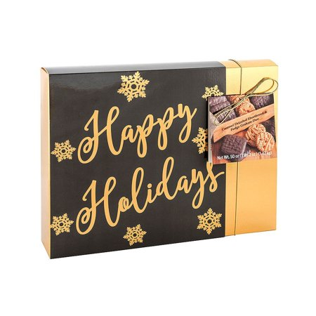 Holiday Fudge - Holiday Cookies, Fudge Graham and Caramel Drizzled Shortbread, 50 Oz, Happy