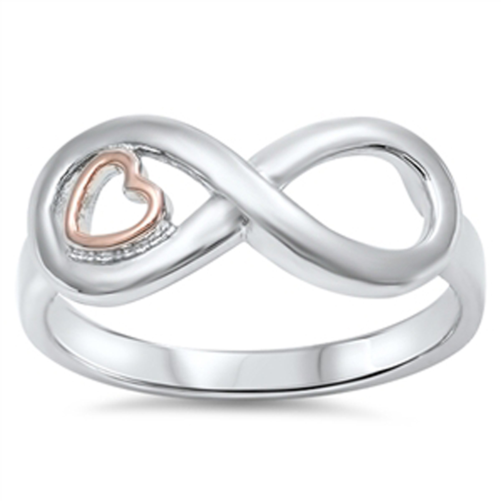 infinity gold tone promise ring sizes 4 5 6 7