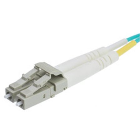 Aqua Fiber Optic (3.3 ft. LC & SC Multimode Duplex 10 GB Aqua Fiber Optic Cable, 50 to 125 - 1 m)