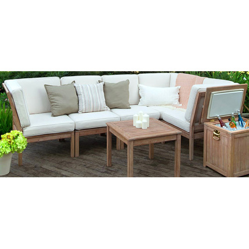 Cambridge Casual Willow Armless Lounge Chair with Cushion
