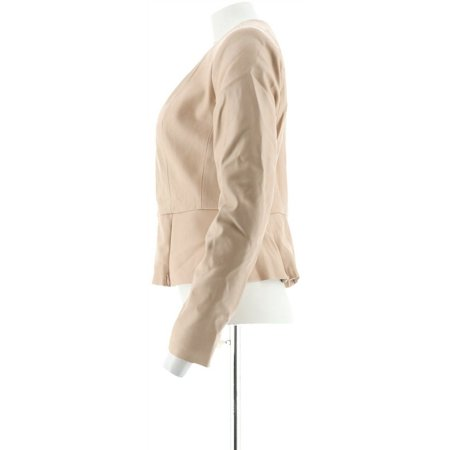 GILI Peplum Faux Leather Zip Front Jacket Women's A286997 - image 4 of 5