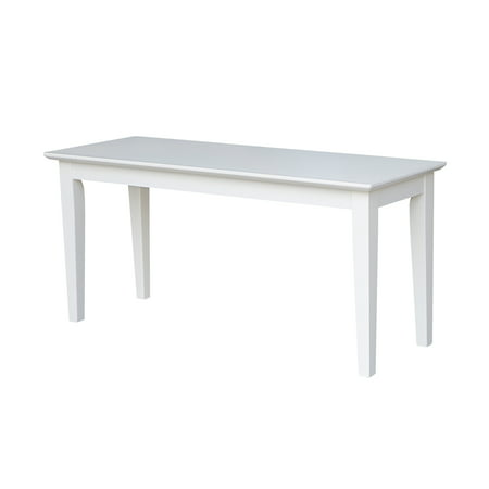 Shaker Styled Bench in White ()