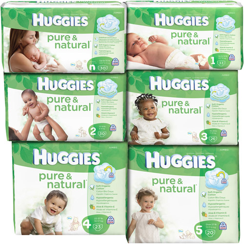HUGGIES - Pure and Natural Diapers Jumbo Pack (Choose Your Size)