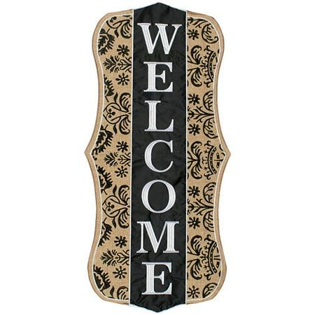 Carson Porch Greeter - Burlap Welcome