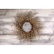 "Primitive Pip & Twig Wreath, 22"" - Ivory"