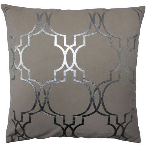 Mainstays Metallic Lattice Decorative Pillow