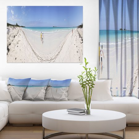 Cayo Coco Tropical Beach Panorama - Modern Seascape Canvas Artwork - image 3 de 3