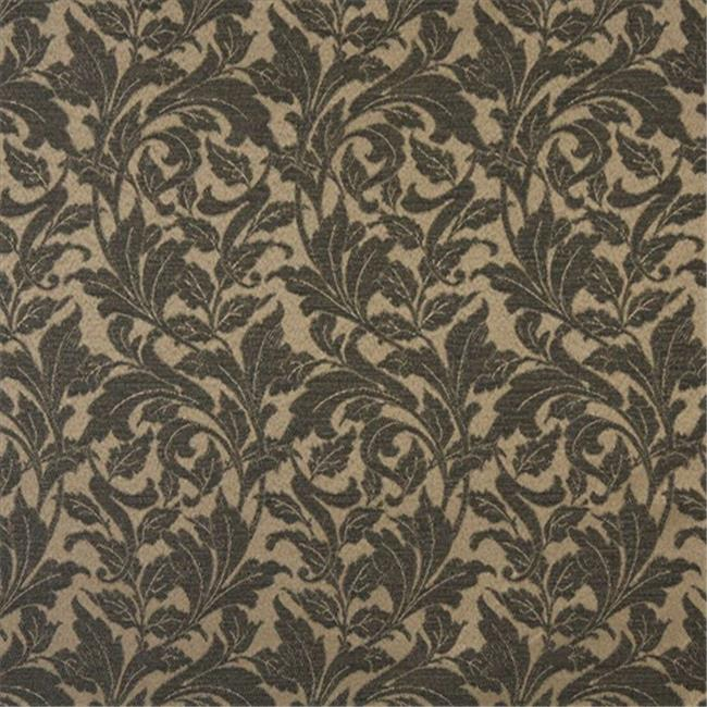 Designer Fabrics F607 54 in. Wide Black, Floral Leaf Outdoor, Indoor, Marine Scotchgarded Fabric