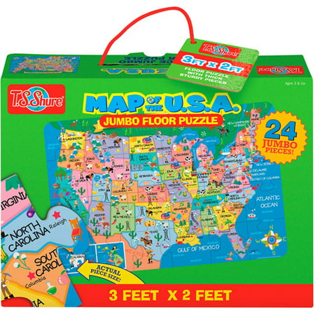 Ts Shure Us Map Jumbo Floor Puzzle Walmartcom - Puzzle-us-map