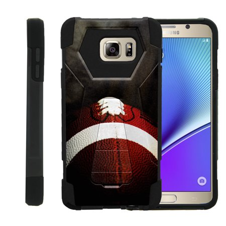 Case for Samsung Galaxy Note 5 N920 [ Shock Fusion ] High Impact Shock Resistant Shell Case + Kickstand - Football Lace Close Up