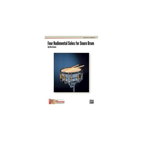 Alfred 00-30272 Four Rudimental Solos for Snare Drum - Music Book