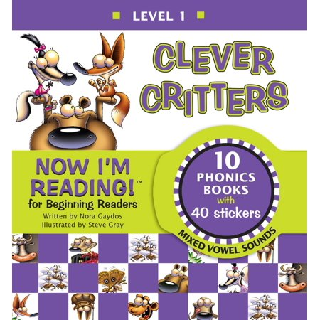 Now I'm Reading! Level 1: Clever Critters (Mixed Vowel Sounds)](Variant Vowels)