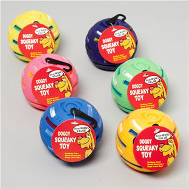 DDI 1853422 Vinyl Solar Ball With Squeaker Dog Toy Case of 36