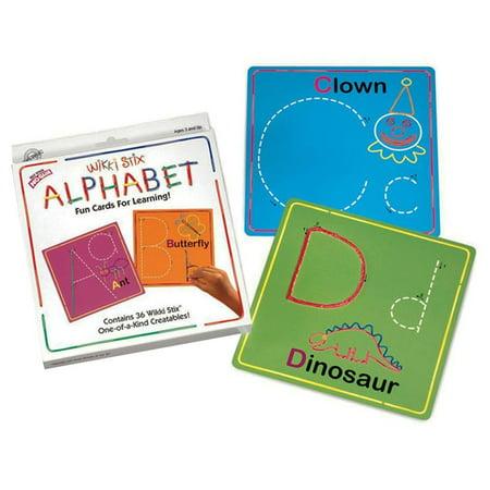 Wikki Stix Alphabet Card Set (Alphabet Arts And Crafts)