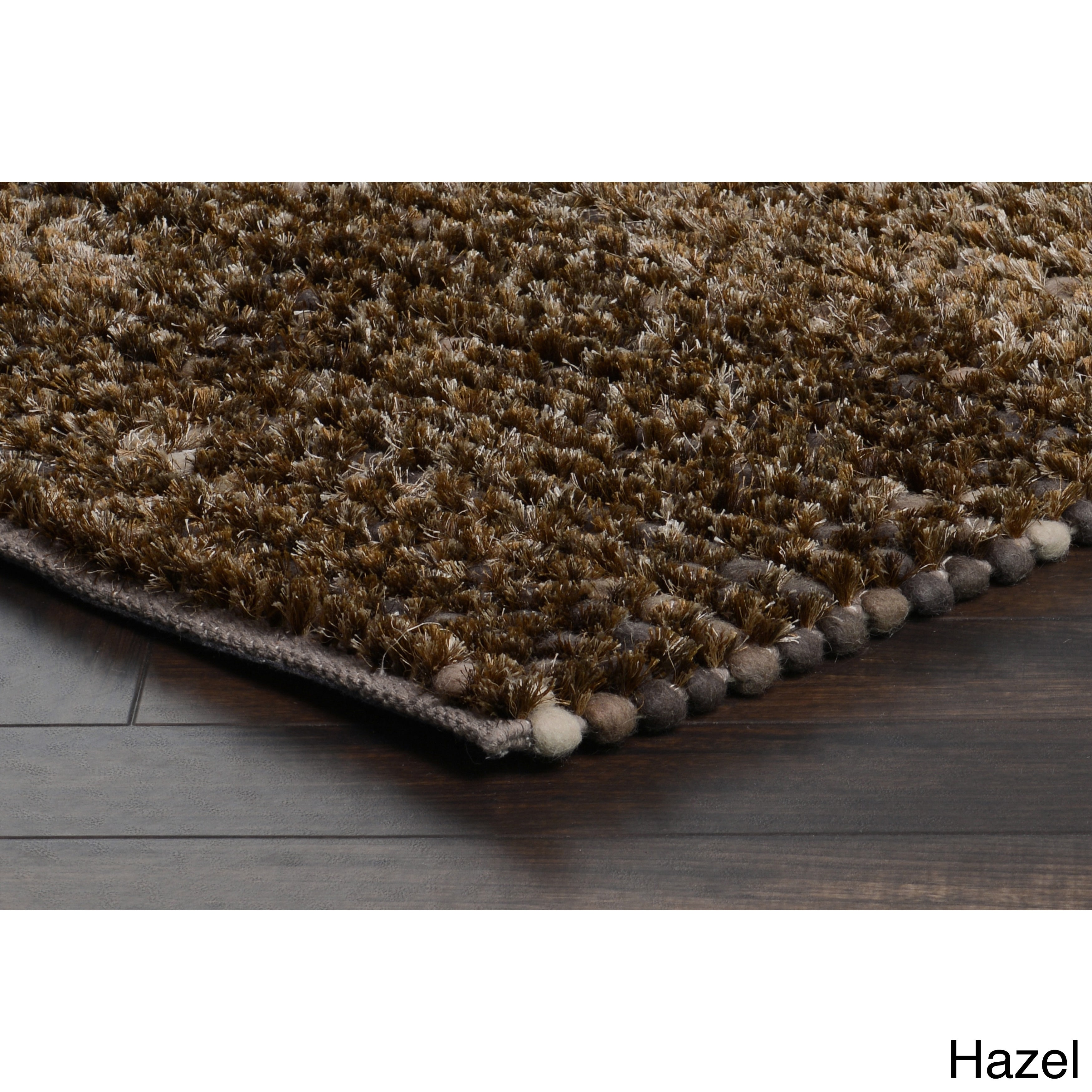 Kosas Home  Handwoven Patricia Wool Shag Brown Rug  (2'x3')