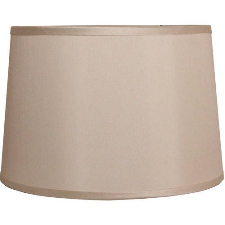 Classic Fabric Drum Lamp Shade with Trim, Multiple Colors