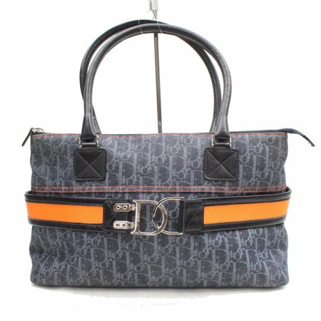 - Navy Monogram Oblique Signature Trotter Zip Tote 869535 Blue Canvas Satchel