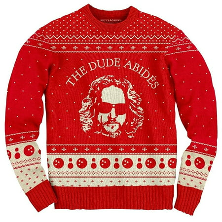 the big lebowski the dude abides ugly christmas sweater - Classic Christmas Sweaters