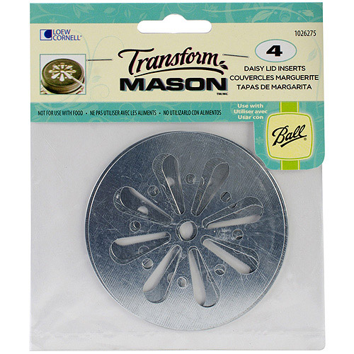 Transform Mason Ball Lid Inserts, 4-Pack, Daisy