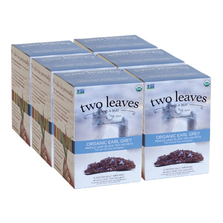 Two Leaves and a Bud, Inc., Organic Earl Grey Black Tea, 15 Count
