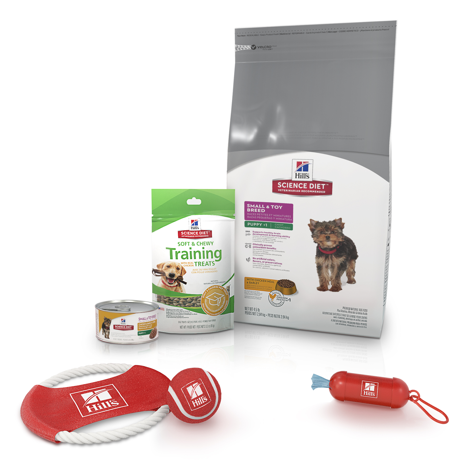 Hill's Science Diet (Spend $20, Get $5) Puppy Starter Kit Small & Toy Breed, Including Dry & Wet Food, Treats & Toys (See description for rebate details)