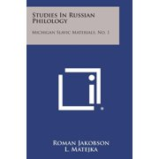 Studies In Russian Philology : Michigan Slavic Materials, No. 1