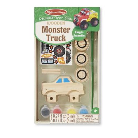 Melissa & Doug Decorate-Your-Own Wooden Monster Truck Craft Kit - Wooden Halloween Crafts Adults
