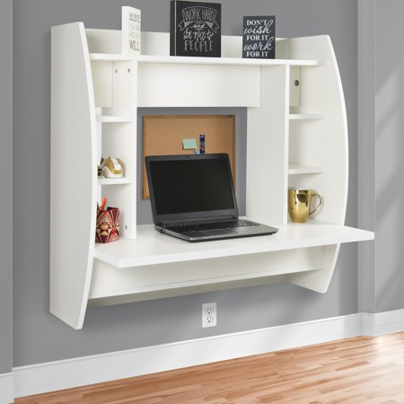 Best Choice Products Wall Mount Floating Computer Desk