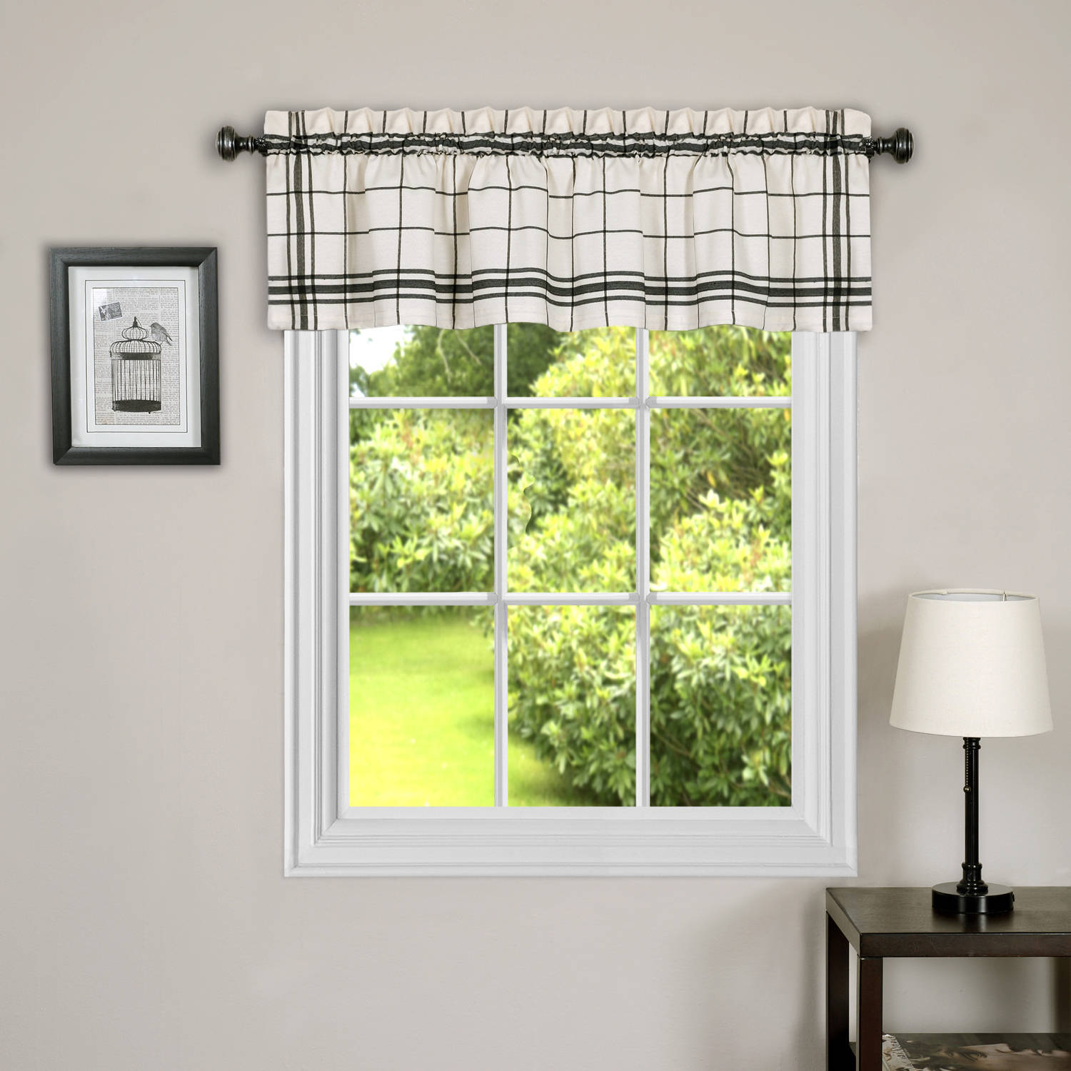 Better Homes And Gardens Checks and Stripes Valances, Multiple Colors
