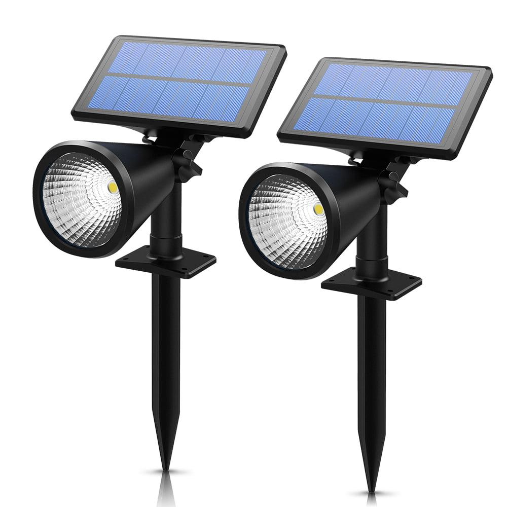 VicTsing Solar Lights Spotlight Outdoor Landscape Lighting Waterproof Wall Light Security Night Lights(2 Packs)
