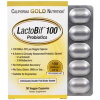California Gold Nutrition  LactoBif Probiotics  100 Billion CFU  30 Veggie Capsules
