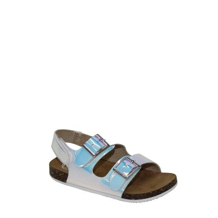 Patent Leather Buckle Sandals - Wonder Nation Infant Girl Two Buckle Sandal