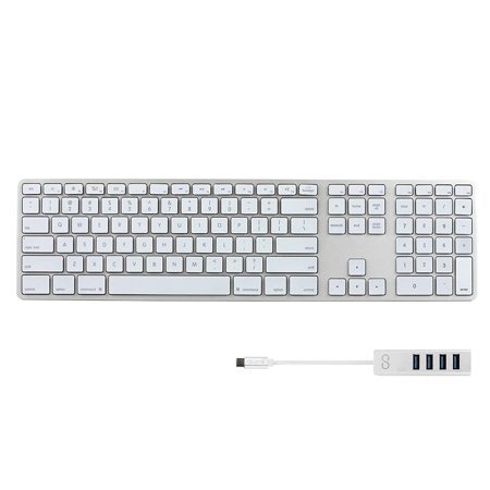 matias fk318ls backlit rgb wired aluminum keyboard for mac with us layout silver bundled with. Black Bedroom Furniture Sets. Home Design Ideas