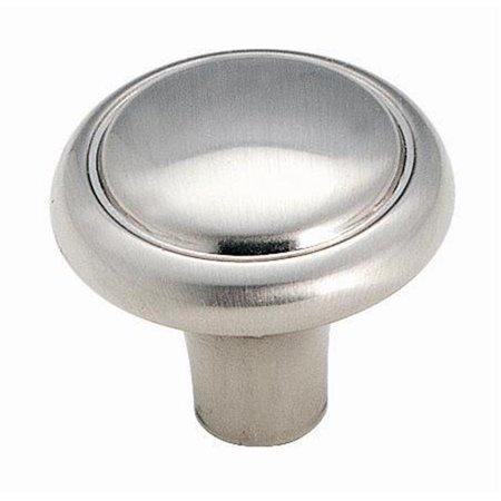 Brass and Sterling Traditions Round Knob - Sterling Nickel Aqua Brass Nickel Handles